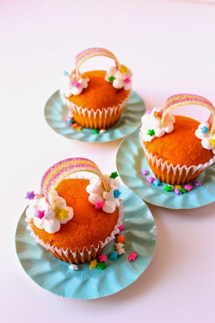 Rainbow cupcakes w/ tutorial