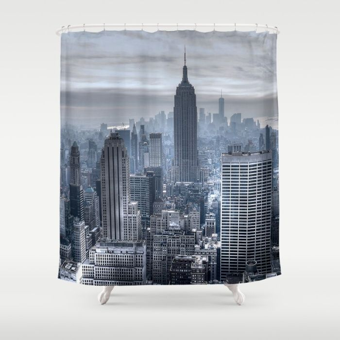 New York skyscrapers Shower Curtain