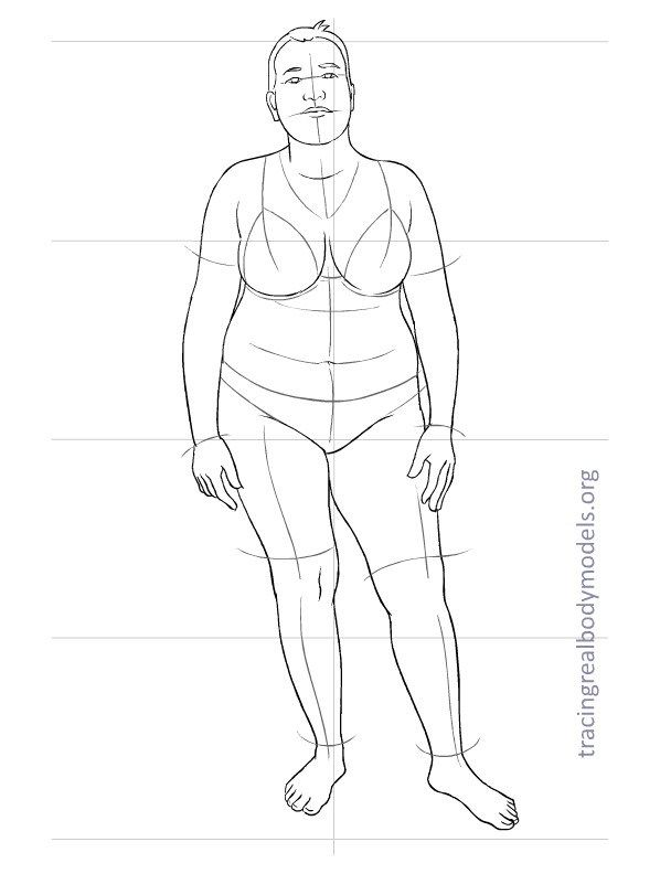 Kudos to tracingrealbodymodels.org  for creating figure templates for planning sewing projects.  Many, many on this site