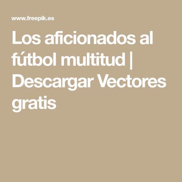 Los aficionados al fútbol multitud | Descargar Vectores gratis