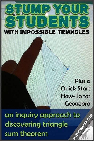 A Quick-Start Guide to Using free GeoGebra Geometry Software to let your students investigate geometric properties through hands-on digital discoveries