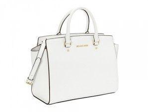 Michael kors Selma handbag | Classic White www.mkbags.com