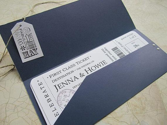 Ticket invitation. cute idea for a birthday party invite or baby shower, too.