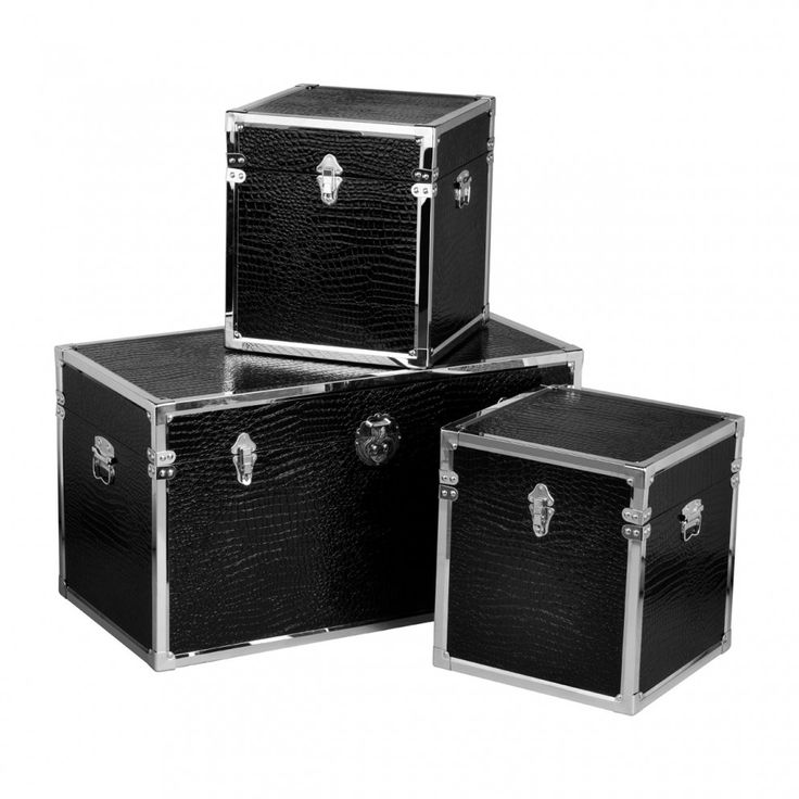 Premier Housewares Crocodile Effect Set of 3 Storage Trunks from £279.99 with FREE delivery!