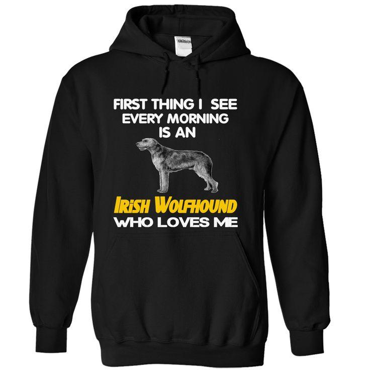 I See My Irish Wolfhound Every Morning T-Shirts, Hoodies. GET IT ==► https://www.sunfrog.com/Pets/I-See-My-Irish-Wolfhound-Every-Morning-Black-4407646-Hoodie.html?id=41382