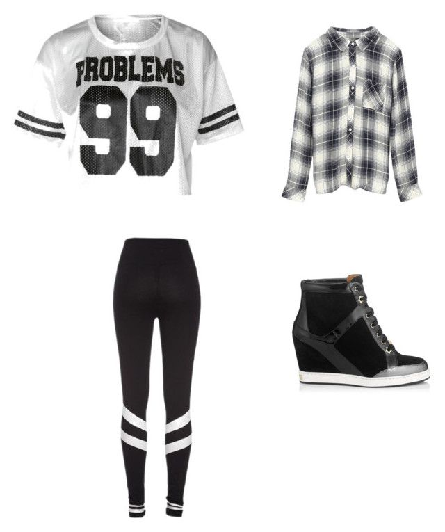 """KC Undercover Look"" by nataliealexis03 ❤ liked on Polyvore featuring Jimmy Choo and Rails"