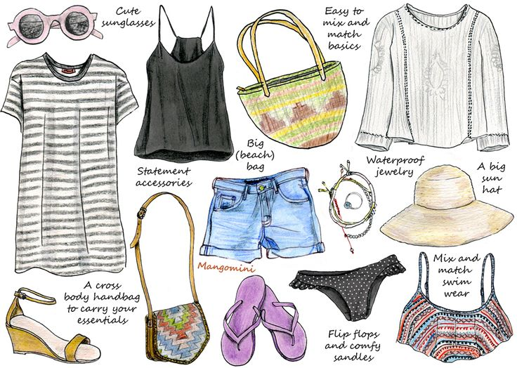 How To Pack Light For Your Summer Holiday Wardrobe - Hello Giggles. Cindy Mangomini