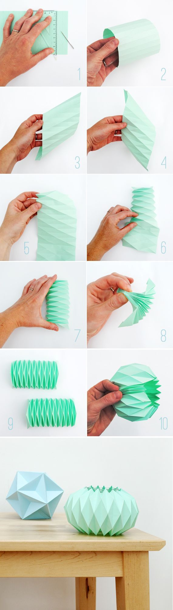 Folded Paper Candle Holder Cuffs » Curbly | DIY Design Community