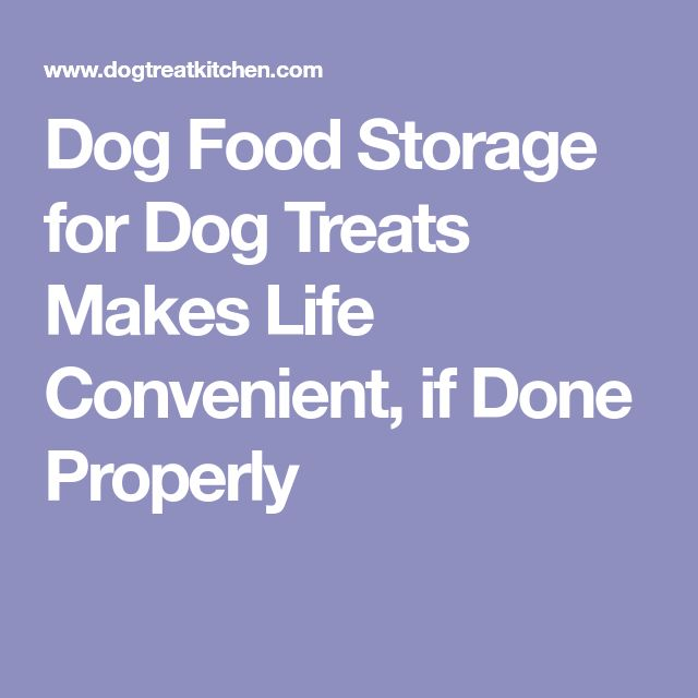 Dog Food Storage for Dog Treats Makes Life Convenient, if Done Properly