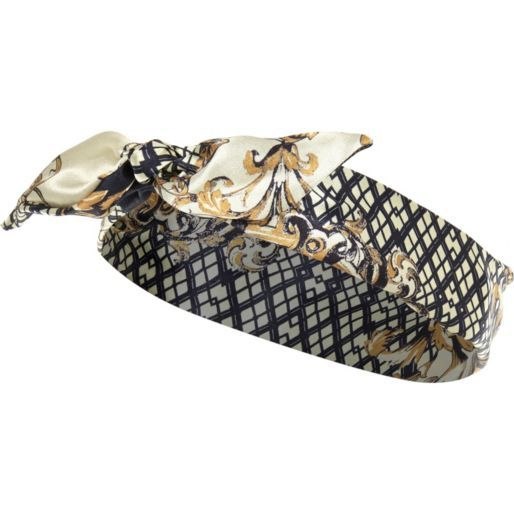 Black retro print headscarf - hair accessories - accessories - women