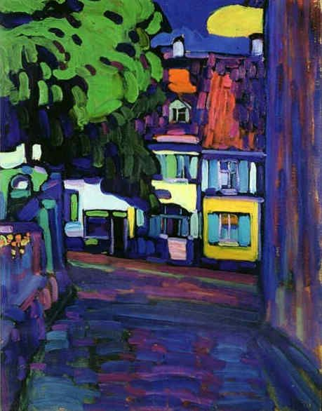 Wasssily Kandinsky, Houses in Murnau on Obermarkt, 1908