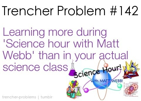 Science hour with Matt Webb!!!