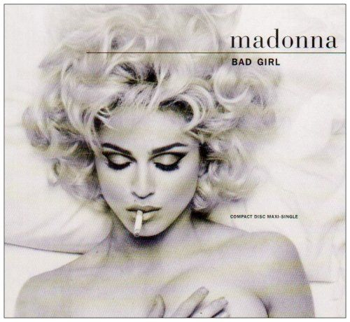 Madonna Bad Girl / Fever Album Cover  (fantastic hair & eye makeup)