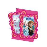 Partyleihkiste.de - Einladungskarten mit Anna und Elsa, deine Lieblingsprinzessin ist die Eiskönigin, dann hast du die richtige Einladungskarte hier gefunden.