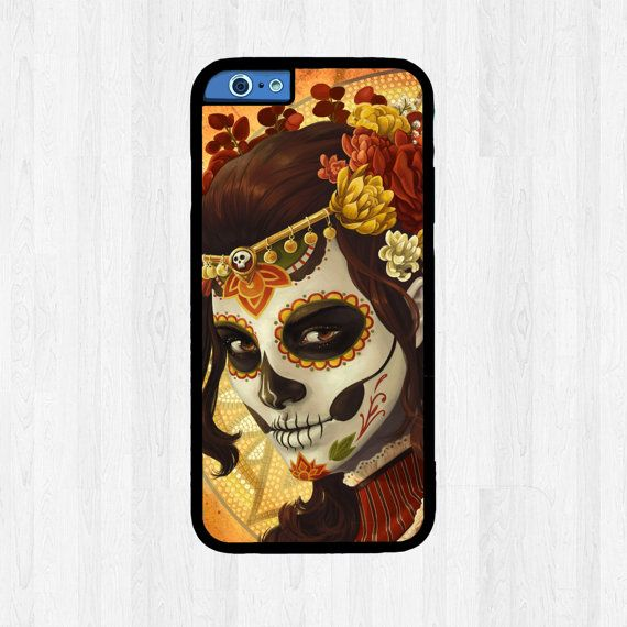 Mexican Painted Skull Face Phone Case  iPhone by FreshAFstudios