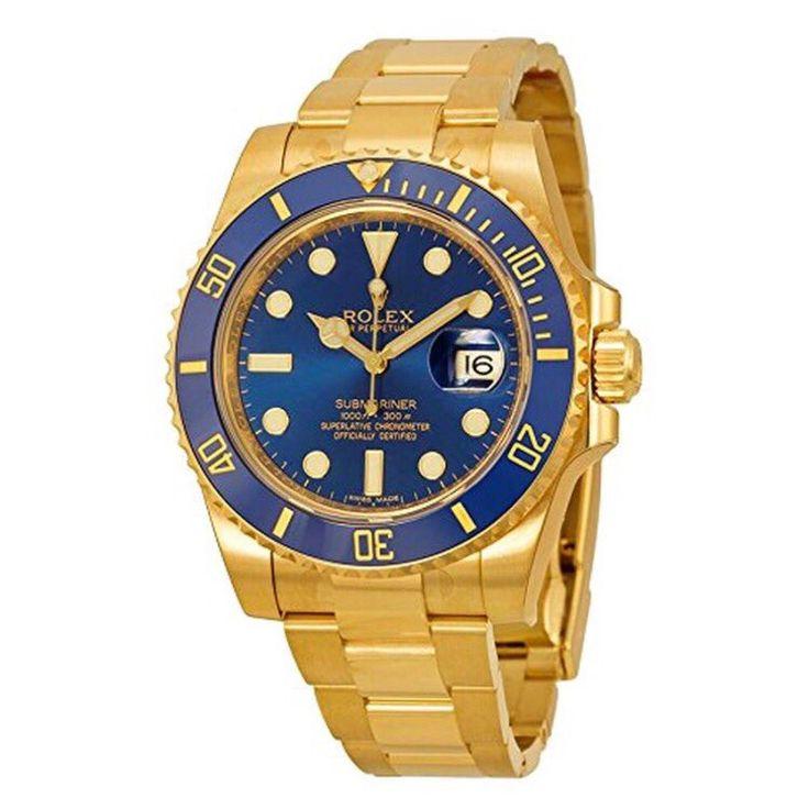 Rolex Submariner 18K Yellow Gold With Blue Dial! £38,965.99 Blowabag.com #Rolex #Watches #WatchPorn #Blowabag