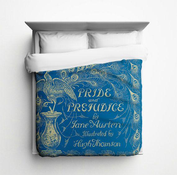 Jane Austen // Pride and Prejudice Duvet Cover - Made in USA $89.99