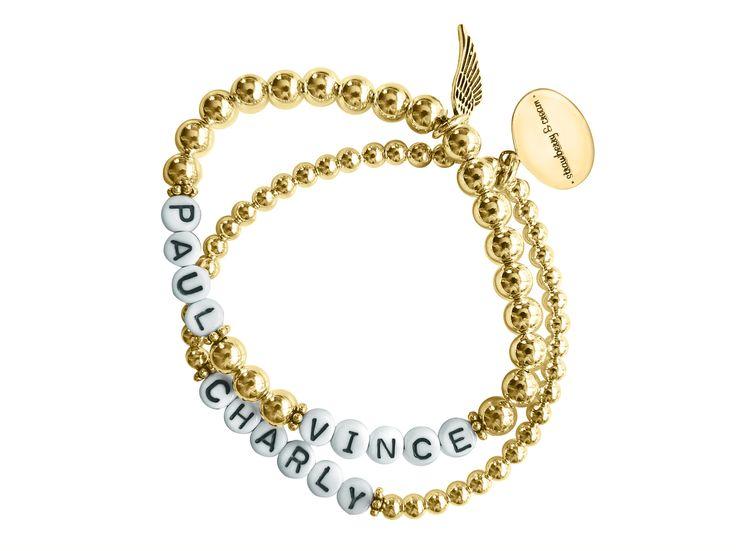 strawberry & cream's golden name bracelets goldene Namensarmbänder von strawberry & cream