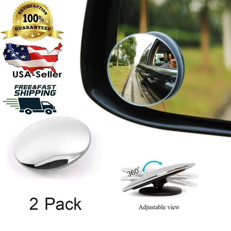 Blind Spot Mirror Wide Angle Car Side Mirror Kit 360 Degree Universal Adjustable #JETBOND