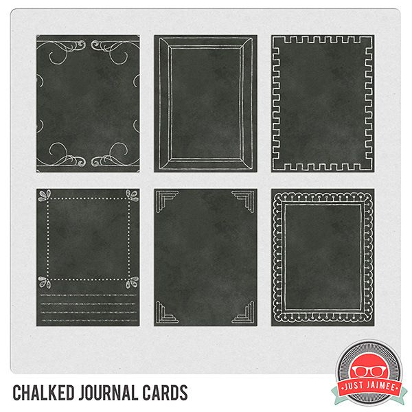 FREE chalked journal cards/mini art printables