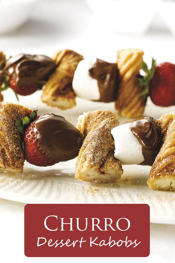 Churro Dessert Kabobs