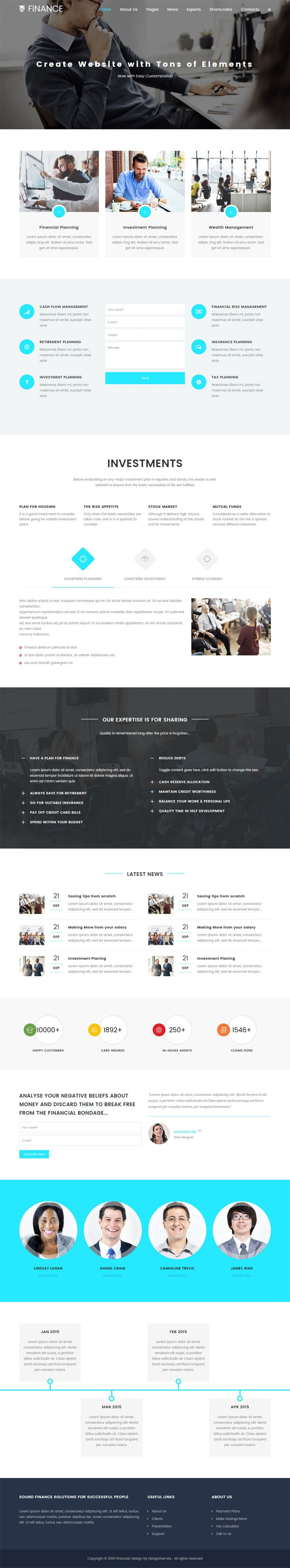 #Finance WordPress #theme is a dazzling and efficient WordPress theme for creating investment agency, consultancy, mutual fund and all financial related websites.