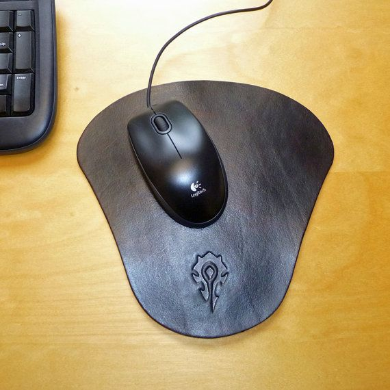 World of Warcraft Horde Leather Mouse Mat. Hand by POBDesigns, £20.00