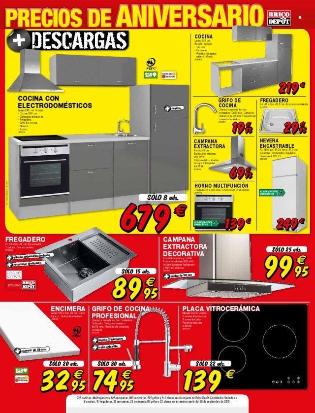 Cocinas brico depot precios affordable microondas puerta for Encimera cocina brico depot