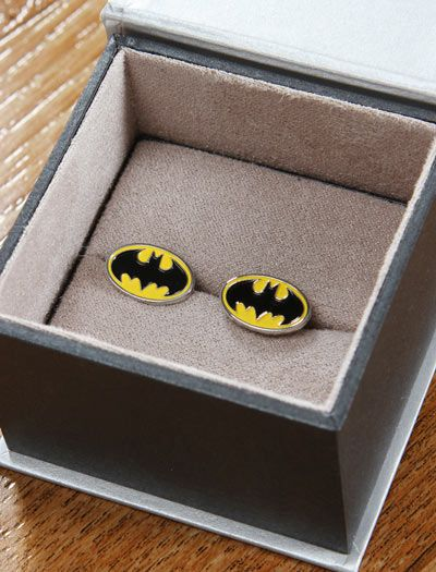 Classy! Batman Cuff Links lol would probably have to get these