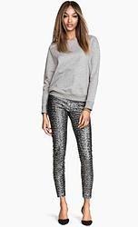 Outfit giorno con pantalone economico grigio in paillettes | Autunno Inverno 2014 2015 |