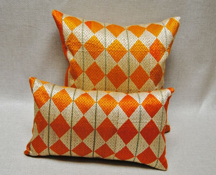 Phulkari Bagh Wedding Shawl Pillows from Punjab, India.  Delicious!  Maison Suzanne Gallery