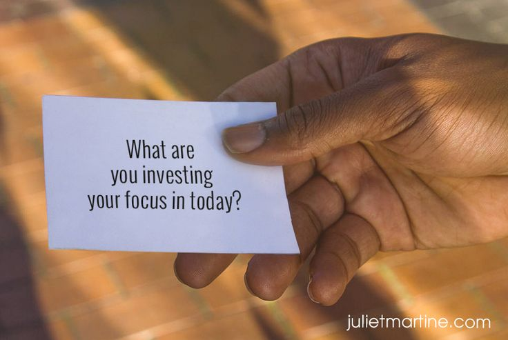 What are you investing your focus in today? #ManifestationIntelligence
