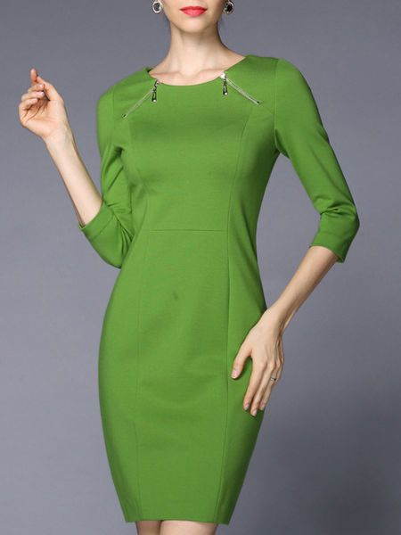 Paneled Cotton-blend  #Mini #dress  #stylewe