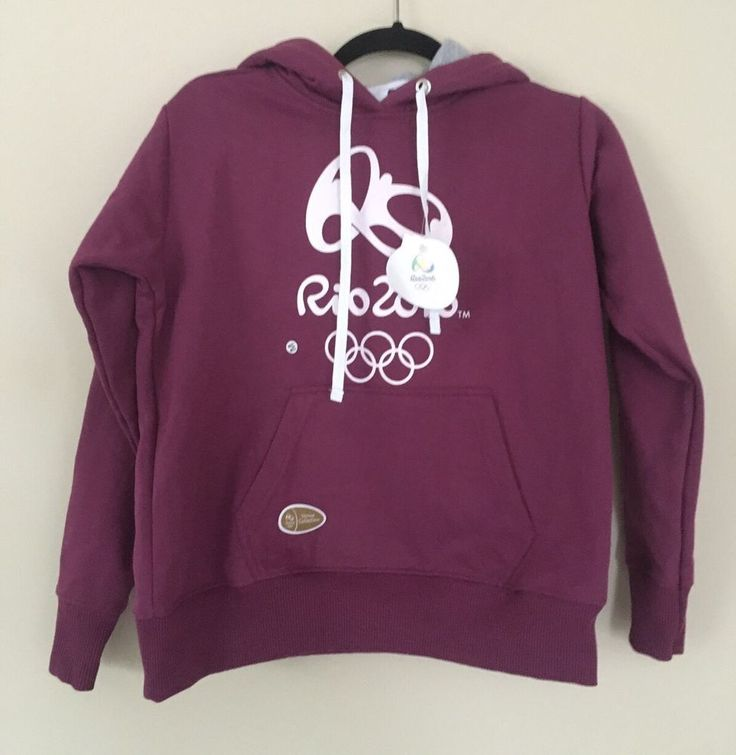 Official olympics hoodie venue collection M berry red Purple sweatshirt RIO 2016