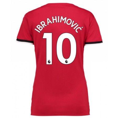 Manchester United Zlatan Ibrahimovic 10 Hjemmebanetrøje Dame 17-18 Kort ærmer  #Billige Fodboldtrøjer