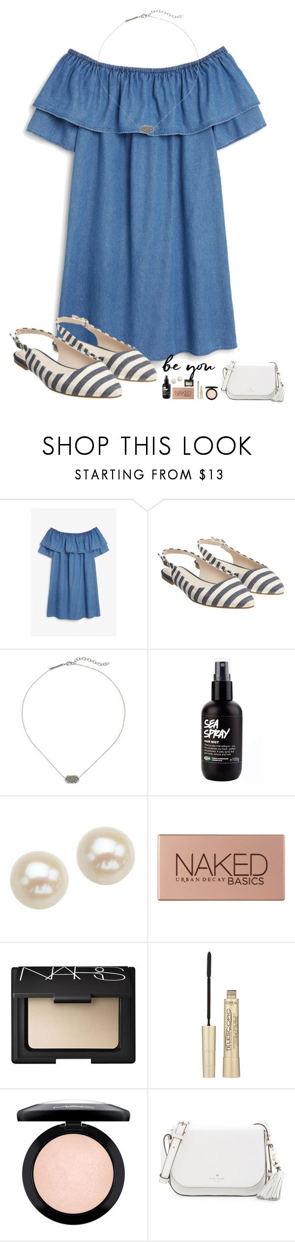 """""""Good morning lovelies"""" by kolbee24 ❤ liked on Polyvore featuring beauty, Monki, Monsoon, Kendra Scott, Honora, Urban Decay, L'Oréal Paris, MAC Cosmetics, Kate Spade and vintage"""