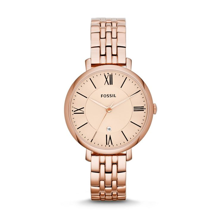 Fossil Jacqueline Three-Hand Stainless Steel Watch – Rose ES3435 | FOSSIL®