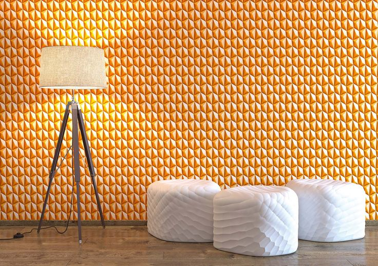 Orange Illusion Wallpaper. Harmony in Motion. AS Creation. Wirz Tapeten AG