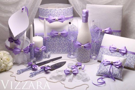Cake server Lilac Hand-PAINTED ENGRAVING Wedding cake от VIZZARA