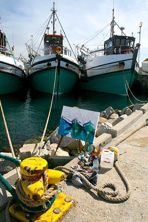 Painting at Gansbaai Harbour