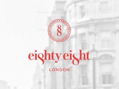 Eighty-Eight Hotel - London   #corporate #branding #creative #logo #personalized #identity #design #corporatedesign < repinned by www.BlickeDeeler.de   Have a look on www.LogoGestaltung-Hamburg.de