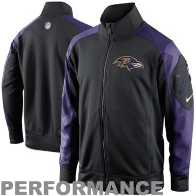 Nike Baltimore Ravens Fly Speed Full Zip Performance Jacket - Black