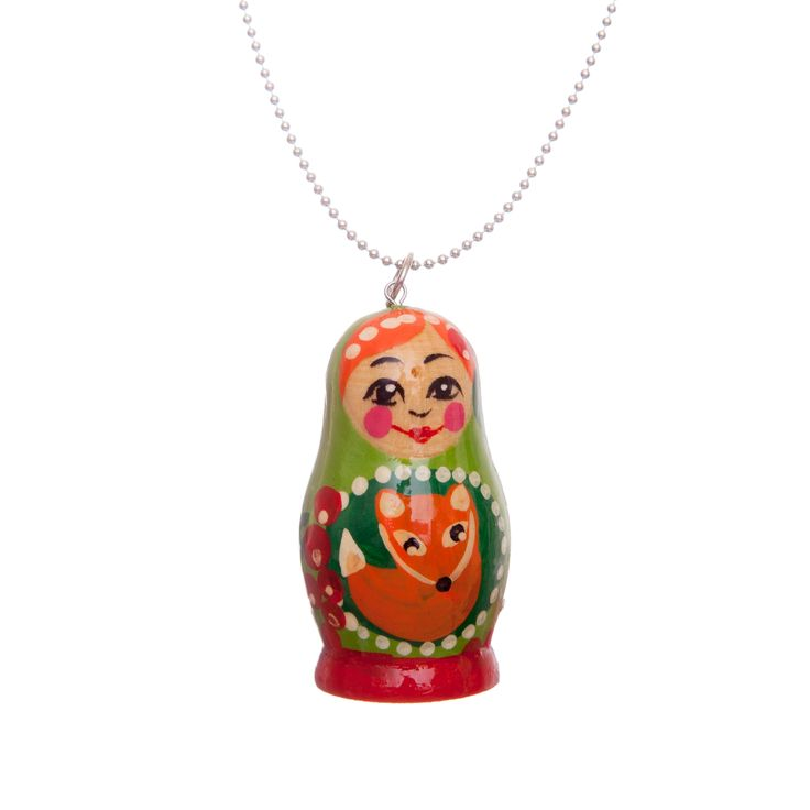 Handmade Russian fox matryoshka necklace   http://www.koruharakka.com/handmade-russian-matryoshka-necklace-p-1927.html