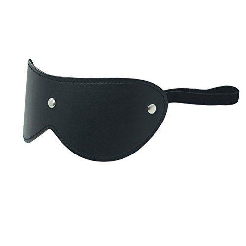 SUMERSHA 1 Stück Hochwertig Schwarz PVC Augenmaske Augenbinde Bondage BDSM Fetisch für Erwachsene,erhöhen Sex Spaß machen