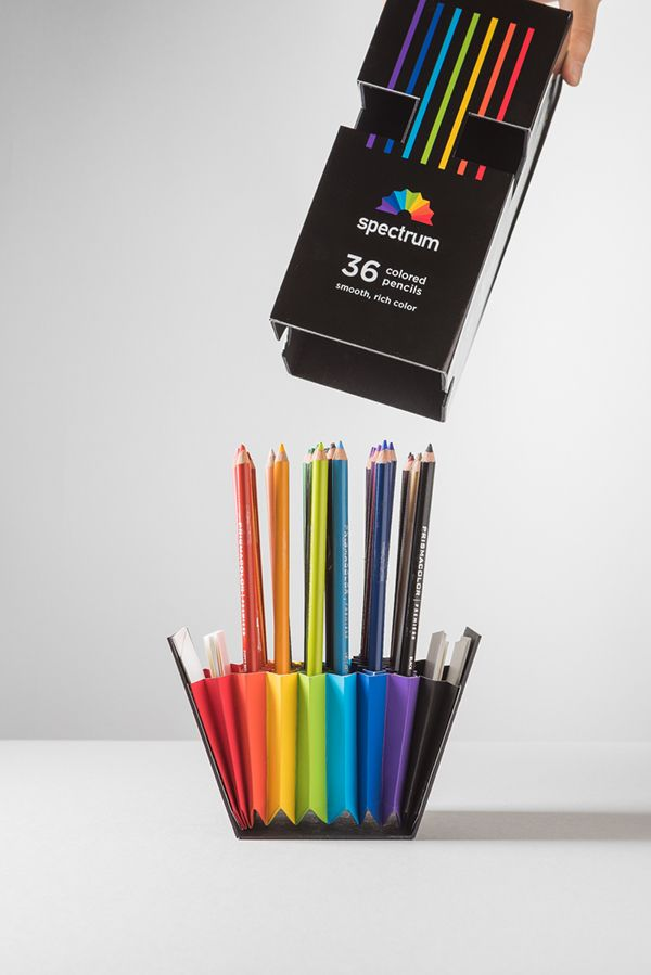 Spectrum 36 colored pencils package design