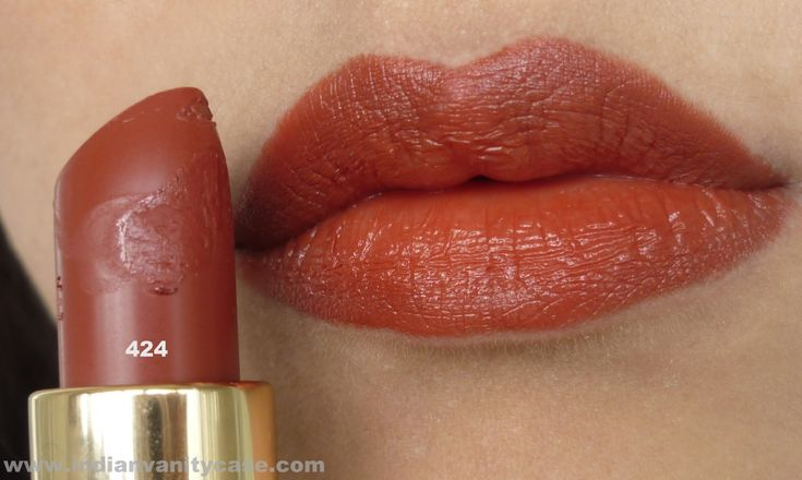 Orange Red Brown Lipstick - Lakme 424-I Need This  The -5741