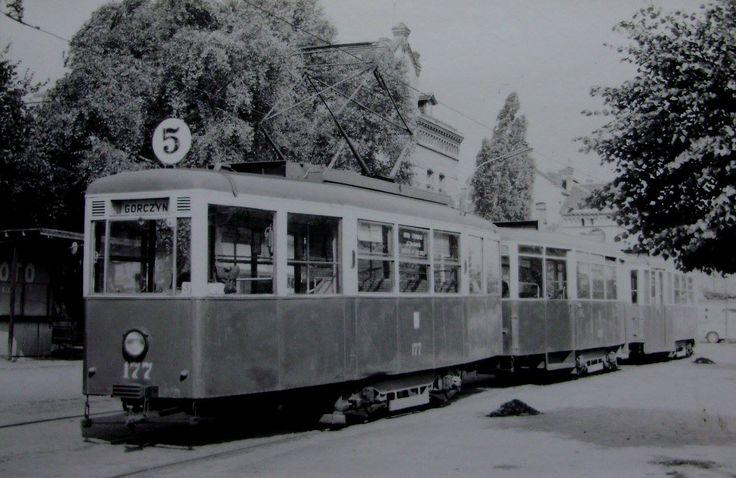 Przystanek bimby na Garbarach przy Starej Rzeźni - Poznań, 1970