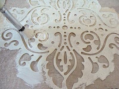 How To Stencil A Drop Cloth Shower Curtain - An Oregon Cottage | An Oregon Cottage