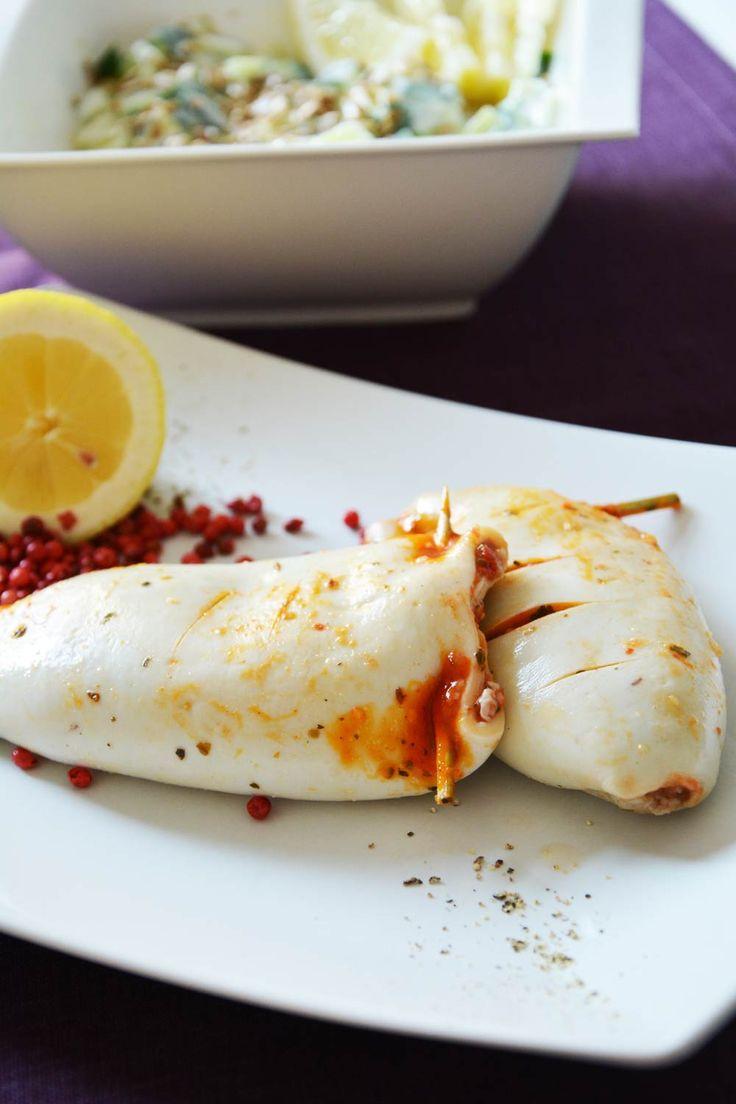 die besten 17 ideen zu tintenfisch rezepte auf pinterest oktopus salat gesunde lachsrezepte. Black Bedroom Furniture Sets. Home Design Ideas