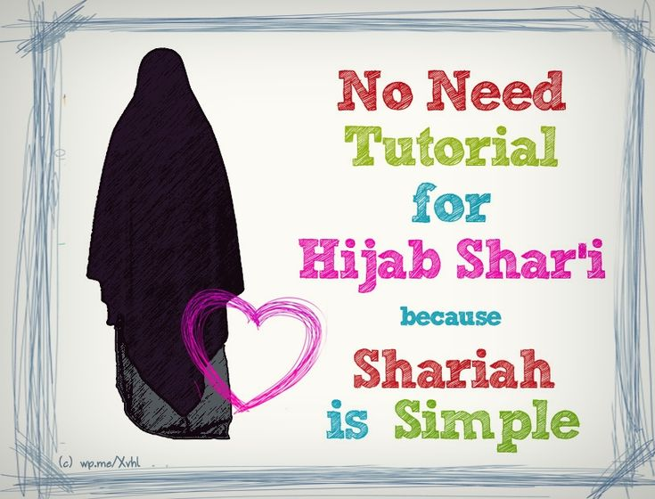 tutorial for hijab syar'i?